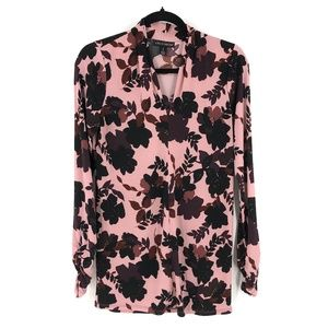 A Pea in the Pod floral tunic top long sleeve M